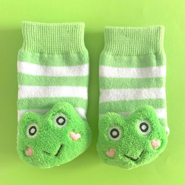 Green Frog Boogie Toes Rattle Sock