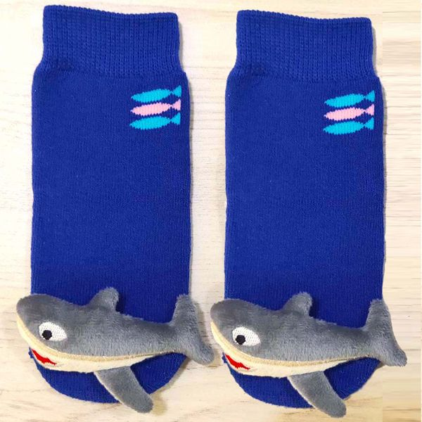 Blue Shark Boogie Toes Rattle Sock