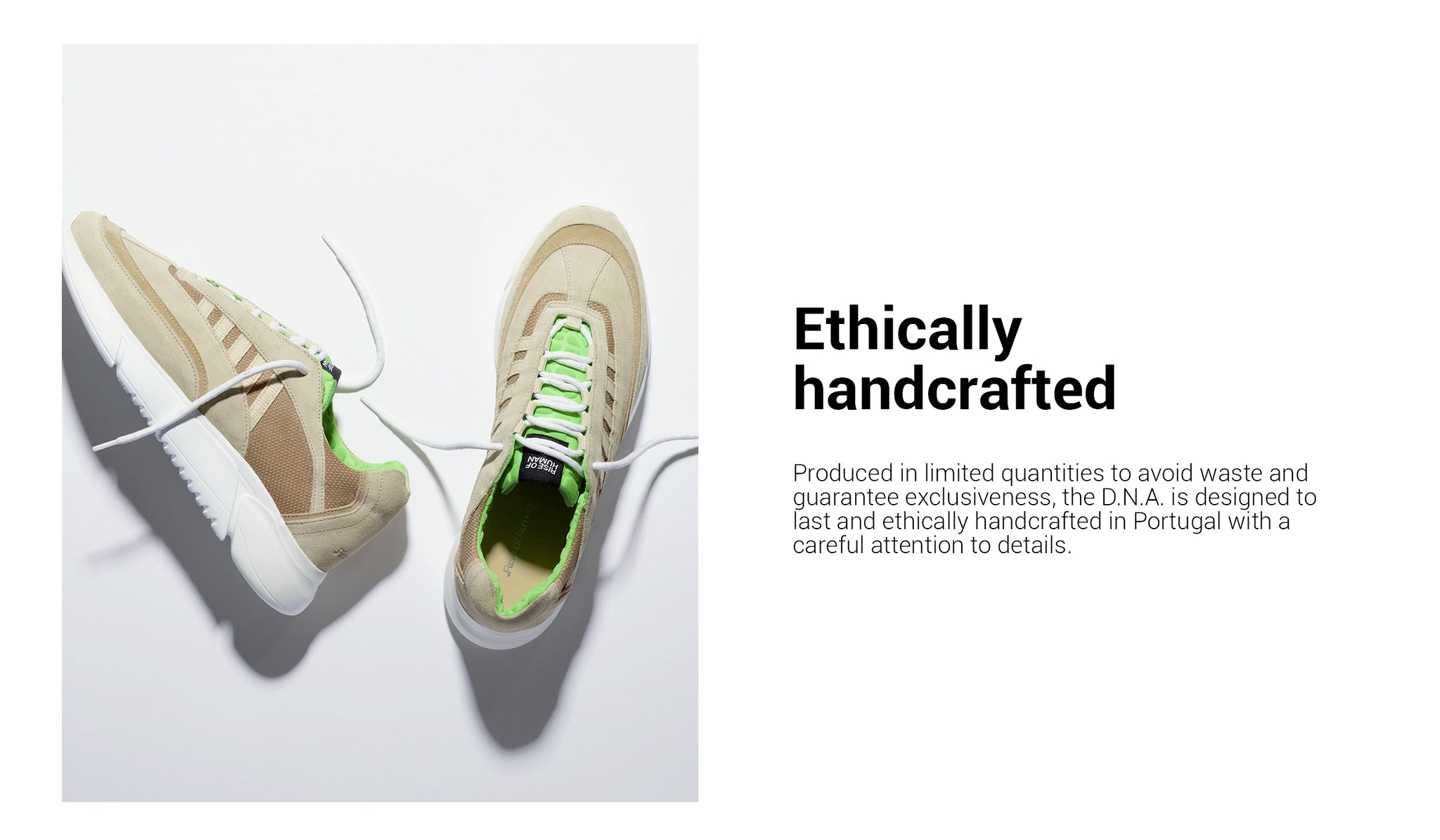 Rise of human Í D.N.A Runner ethically handcrafted