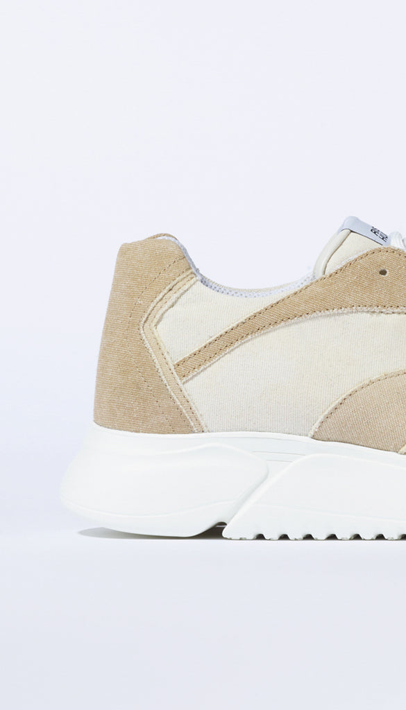 D.N.A. RUNNER beige recycled denim / pre-order