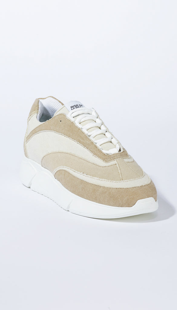 D.N.A. RUNNER beige recycled denim