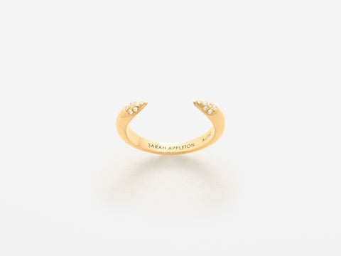 Sarah Appleton Diamond Tusk Ring