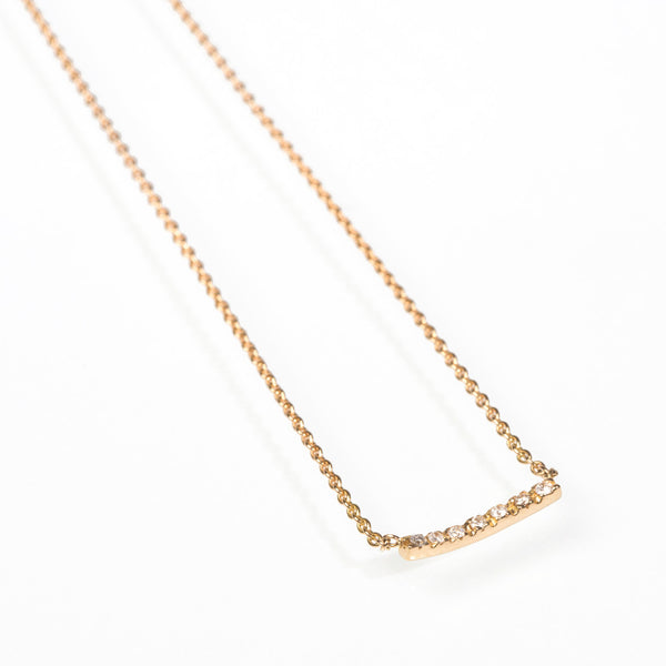 Sarah appleton diamond bar necklace