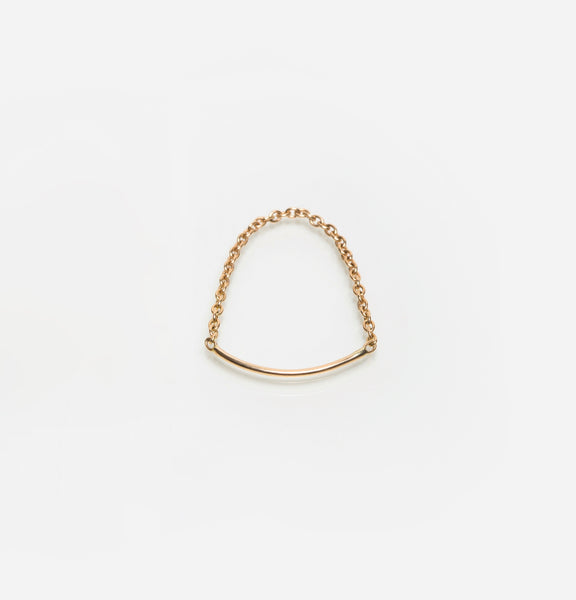 Sarah Appleton Chain bar ring 18K gold