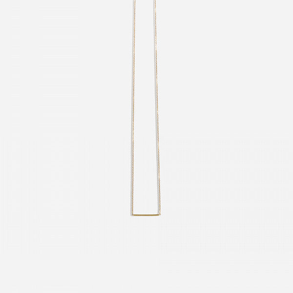 Sarah Appleton Micro Bar Navette Necklace