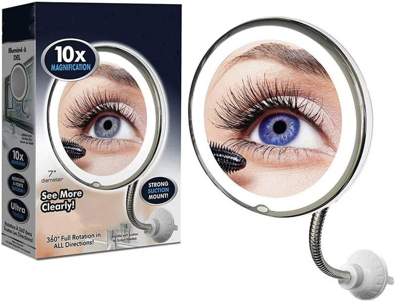 My Flexible Mirror, 10X pliant miroir de maquillage   مرآة تجميل