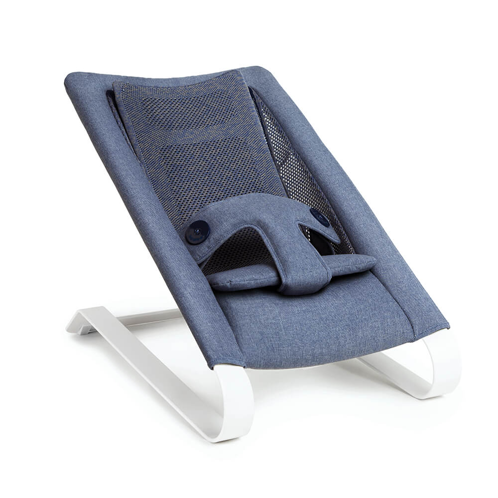 Bombol Bamboo 3Dknit baby bouncer Denim Blue relax