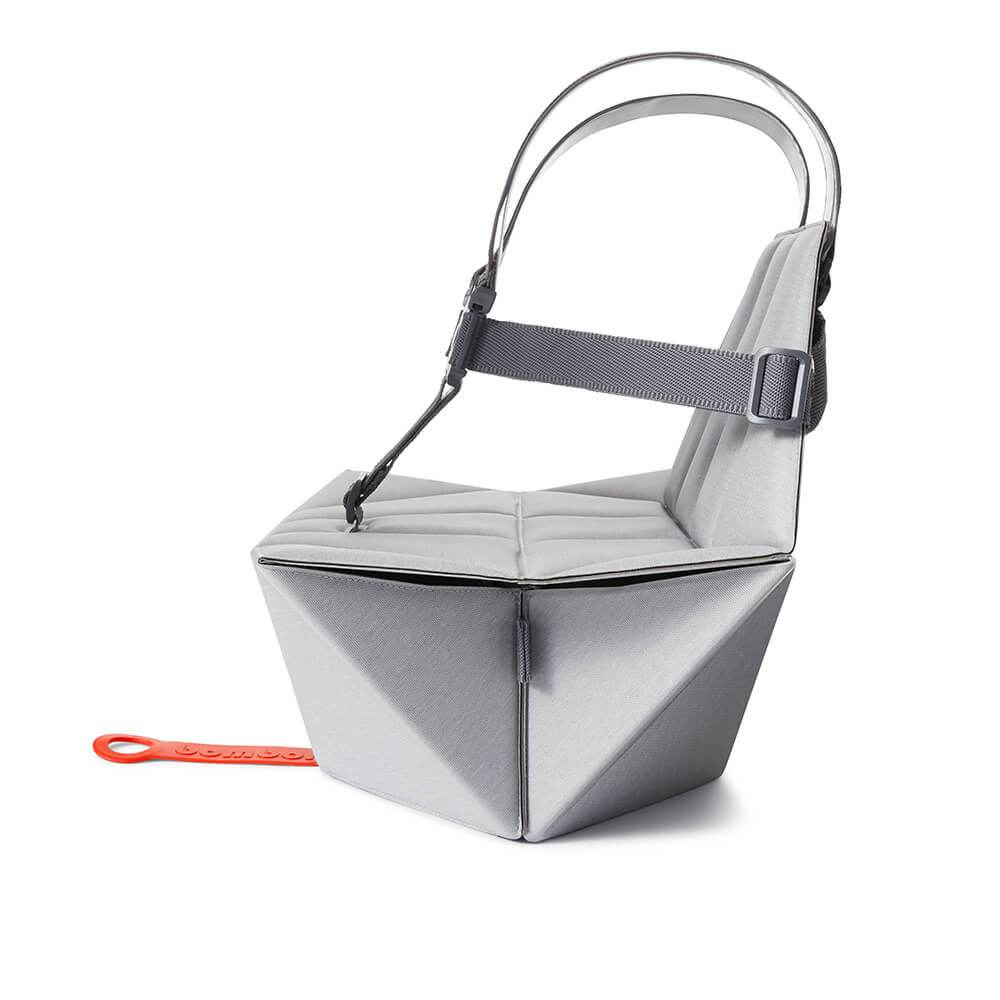 Foldable Pebble Grey Pop-Up booster