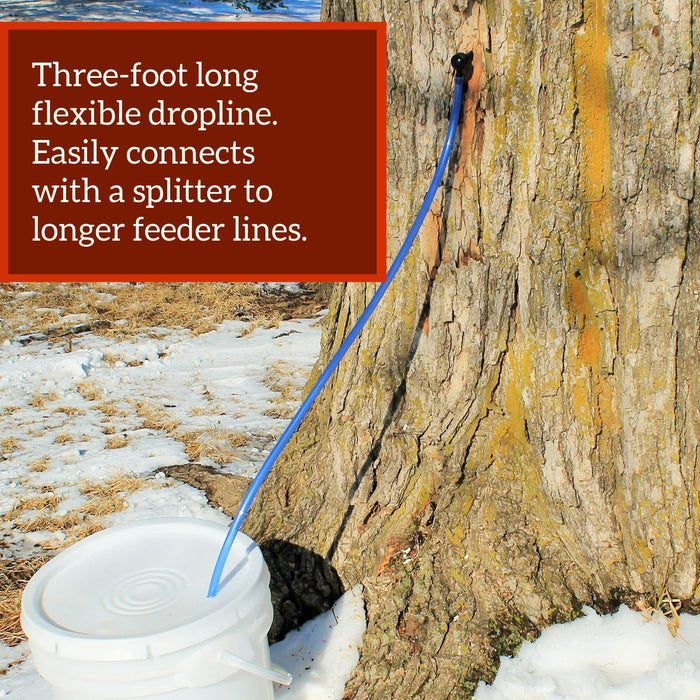 Tap 5 Trees Sugarmaking Kit – with 80-Page Guidebook and 1 Quart Maple Sap Filter