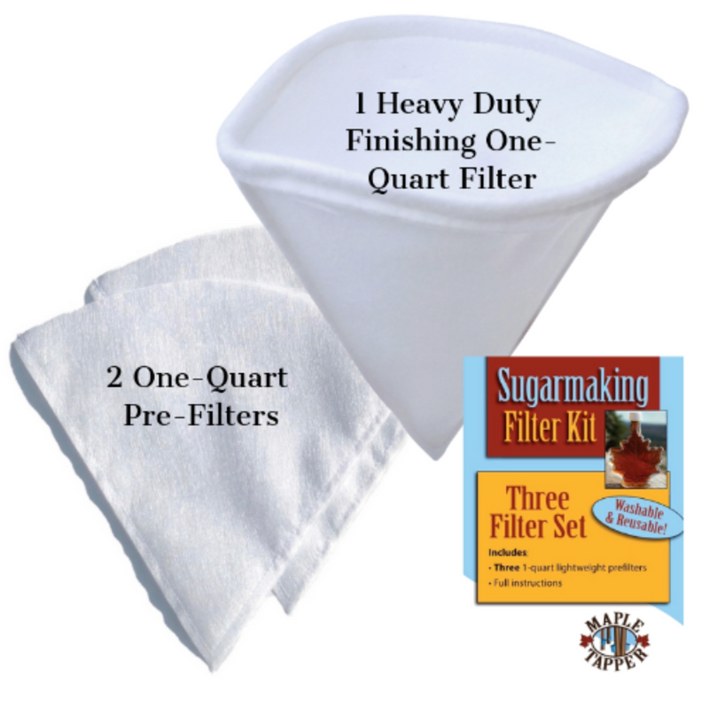 Maple Syrup Filters, Three Piece Set, One-Quart size for small batches