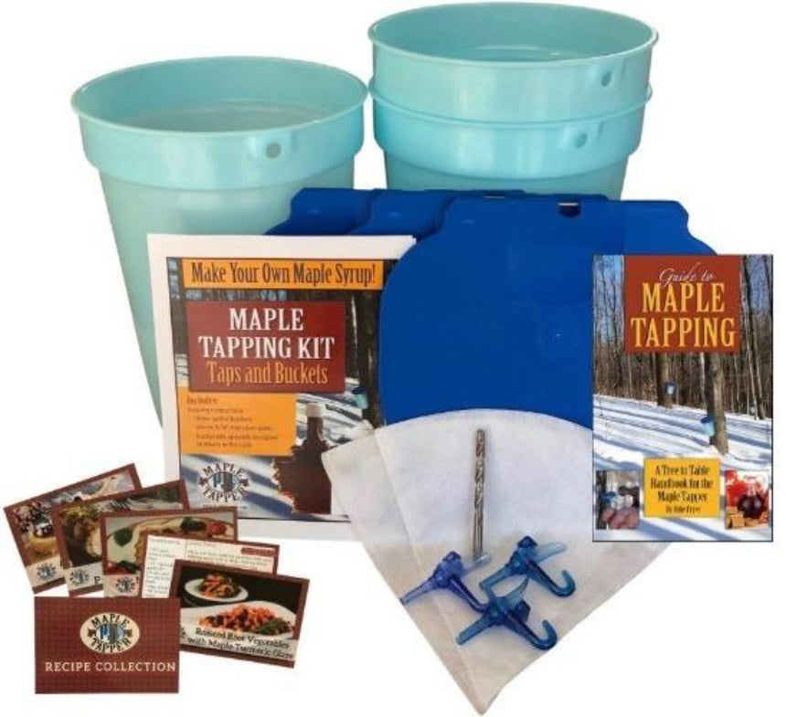 Deluxe Maple Tapping Starter Kit - Buckets & Spiles - Tap 3 Trees