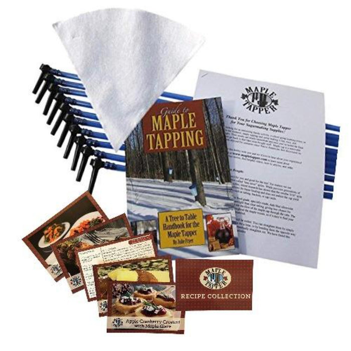 Tap 10 Trees Sugarmaking Kit. Ten Taps & Tubes, Guide to Maple Tapping and Filter.