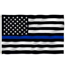 Load image into Gallery viewer, Thin Blue Line Flag - Support our Police