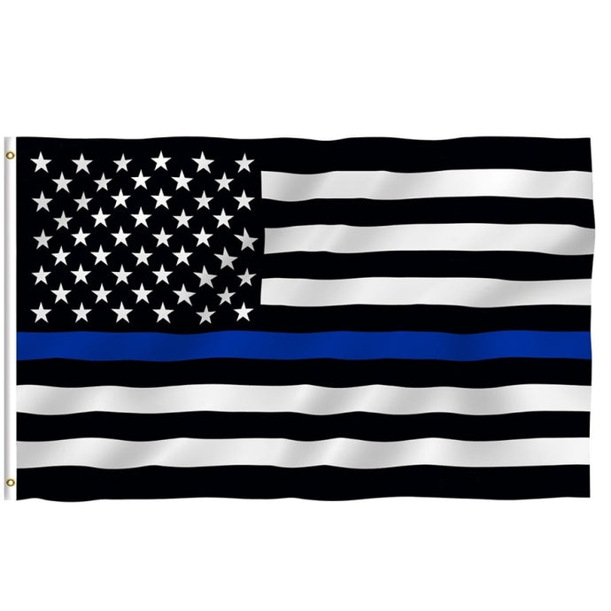 Thin Blue Line Flag - Support our Police
