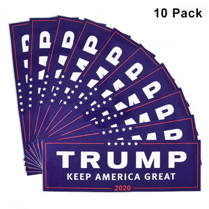 10 count Trump Bumper Stickers