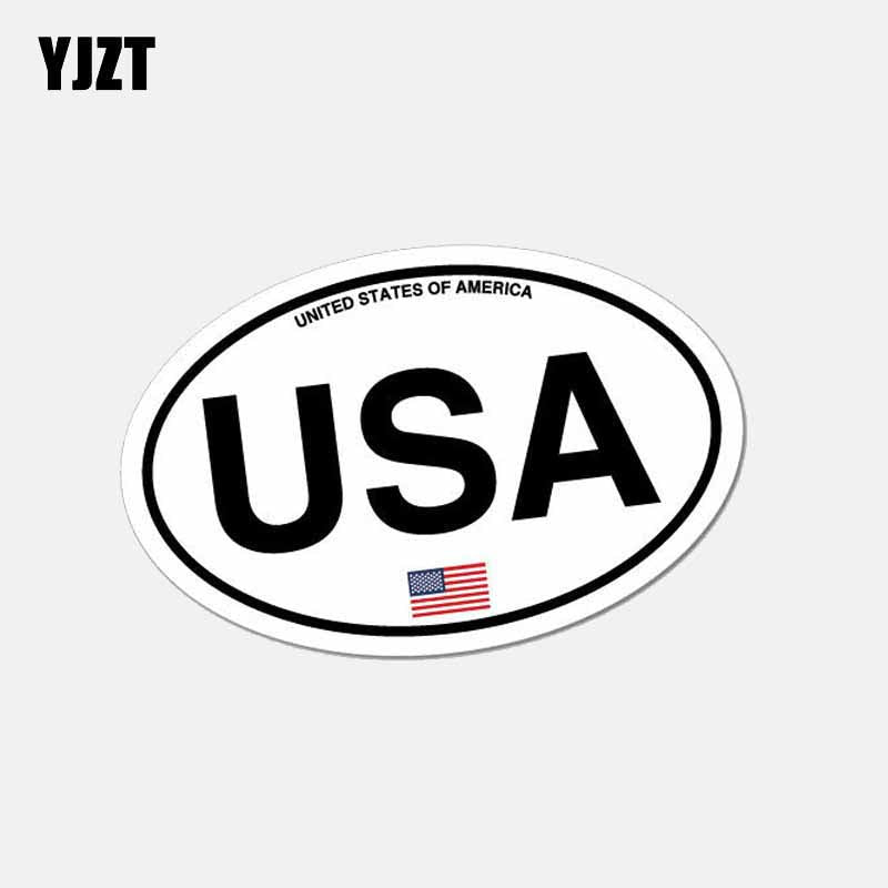 Oval USA America Country Code Car Sticker