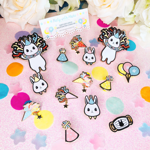 Party With Mochi Pins