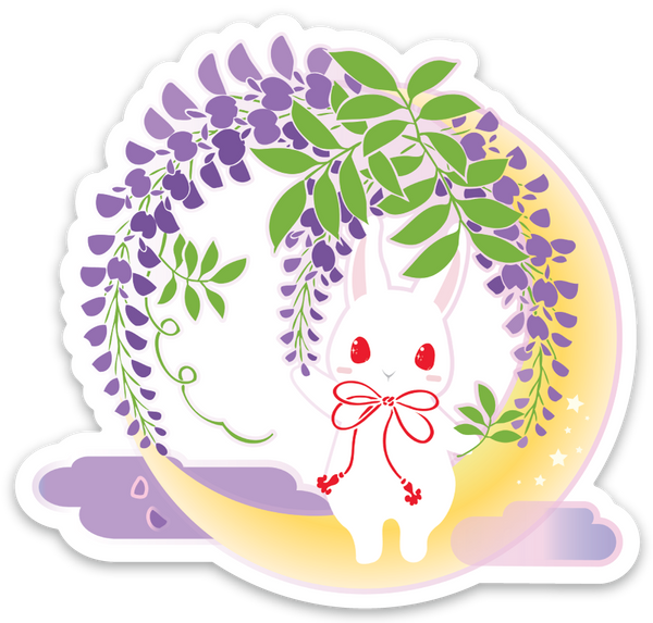 Crescent Wisteria Night Sticker