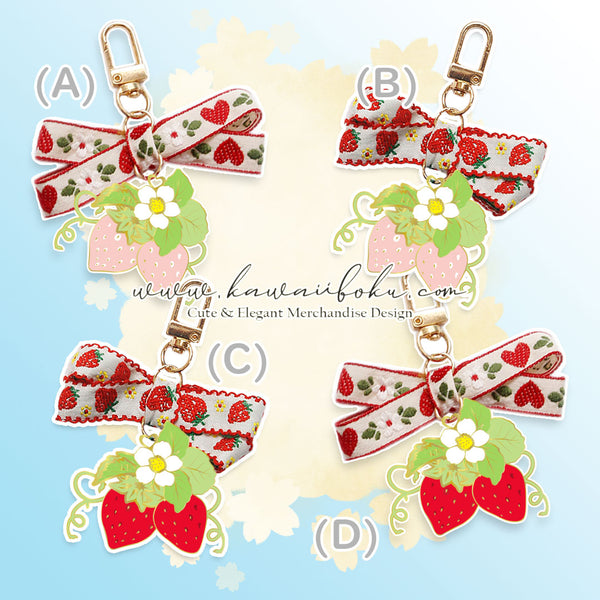 PREORDER - Strawberries Romance Pin & Bag (options)