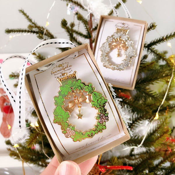 Festive Pin(s) with ornament box *limited edition*