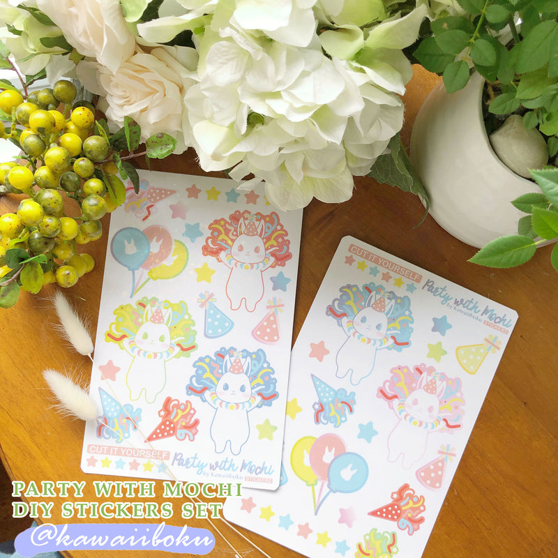 DIY - Party With Mochi Sticker Sheet