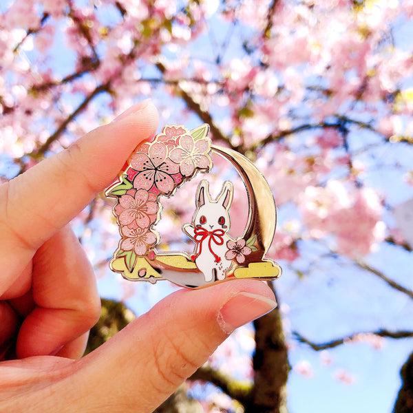 Crescent Blossom Night Pin