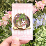 Crescent Wisteria Night Pin