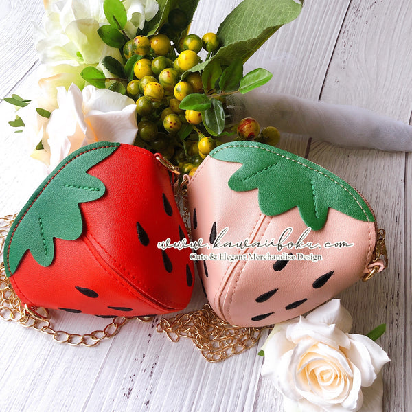 PREORDER - Strawberry Mochi Pin & Bag (options)