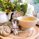 The Foodie Rabbit - Mochi With Spoon Pin