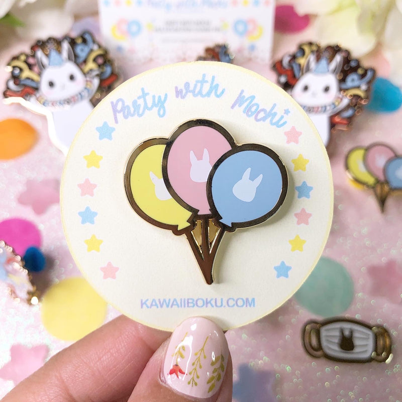 Party Balloons & Face Mask Pins