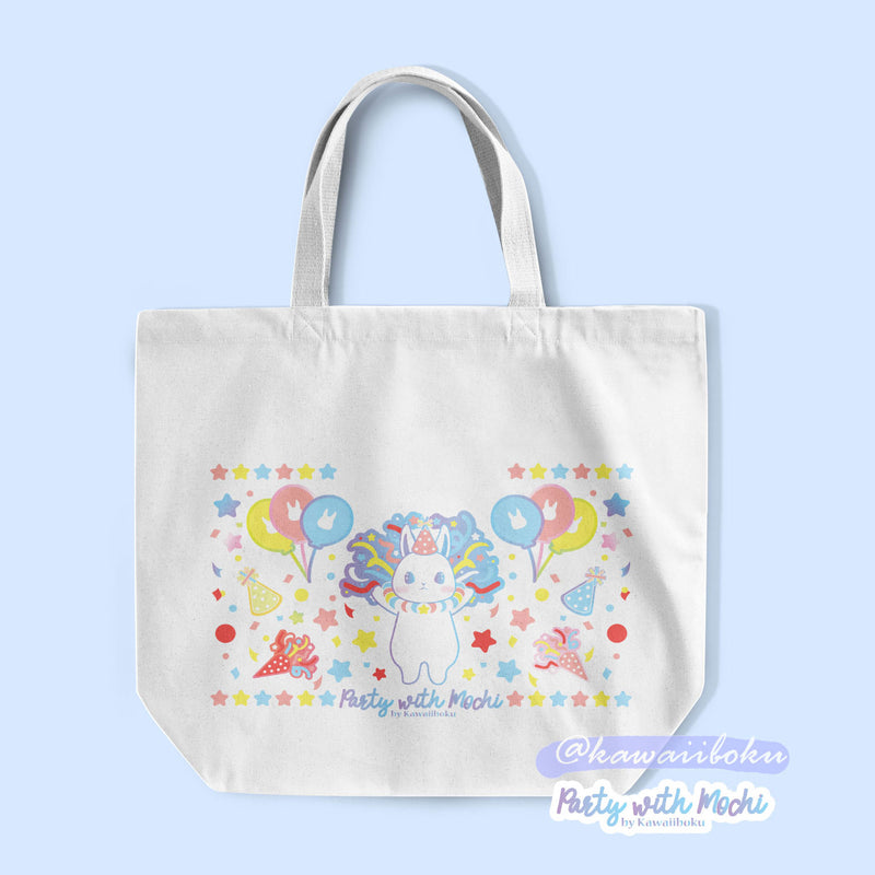 Party with Mochi Handmade Tote Bag *limited qty*