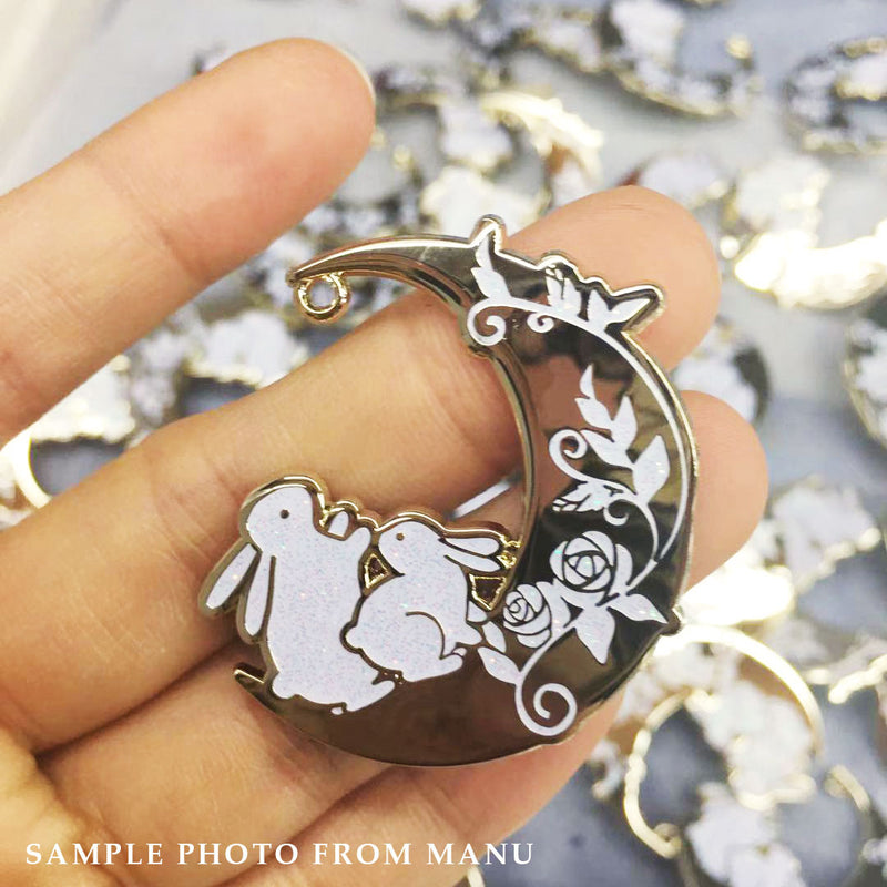 Stargazer Bunnies Pin