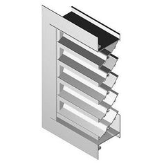 United Enertech #FL-D-4 Stationary Wall Louvers