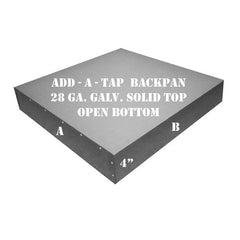 ADD-A-TAP Square Backpan For Ceiling Air Devices