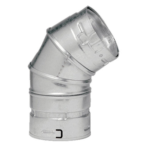 "Picture of Metal-Fab - Type B Gas Vent Round Adj. 45/60 Degree Elbow 3"" Dia to 6"" Dia."
