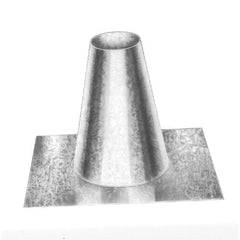"Metal-Fab - Type B Gas Vent Round Roof Tall Cone Flashing 3"" Dia. to 12"" Dia."