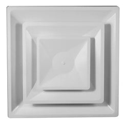 METALAIRE - 5700A-6 Adjustable Full Louver Face T-Bar Lay-In Square Diffuser Round Neck
