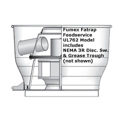 PennBarry - Fumex Fatrap UL762 Upblast Direct Drive Centrifugal Roof Exhaust Fans