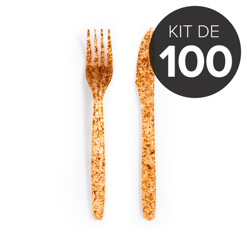 100 Sets de couverts