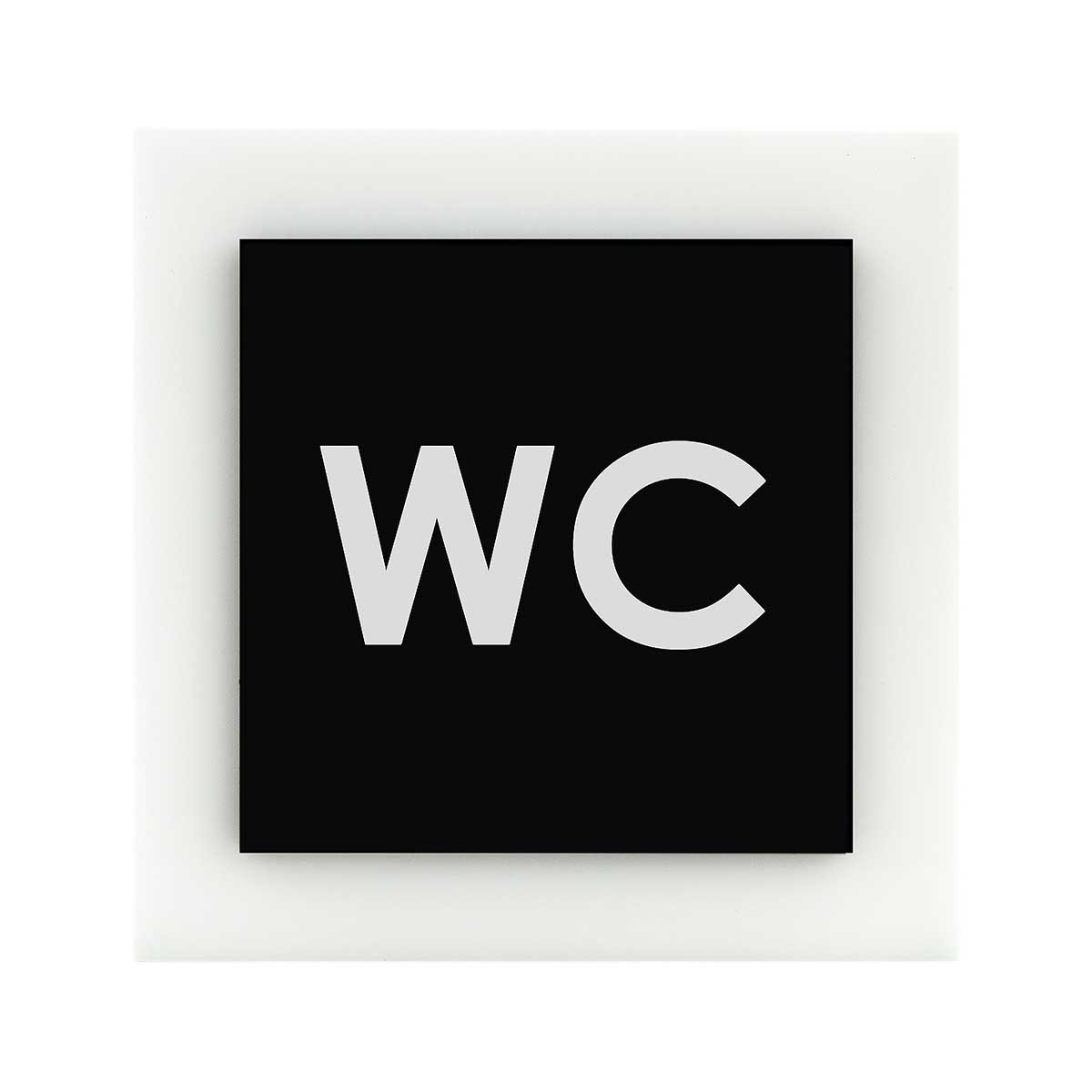 Acrylic Bathroom Sign - WC Bathroom Signs black/white Bsign