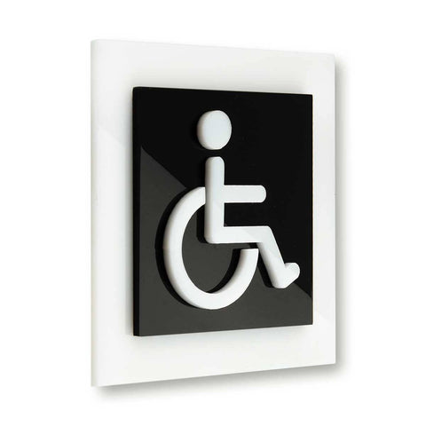 Restroom Wheelchairs Signs