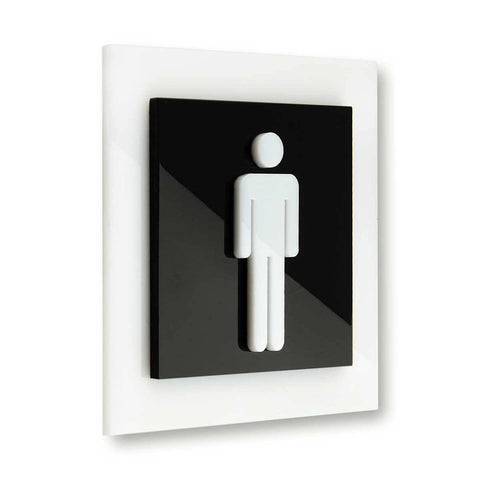 Acrylic Men Signs for Restroom