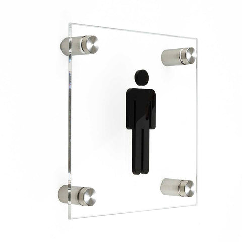 Men Sign of Restroom Bathroom Signs metal holders Bsign
