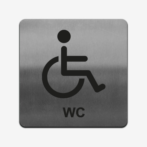 Disabled WC - Stainless Steel Sign