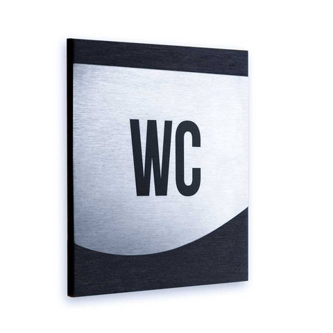 Steel All Gender WC Door Signs