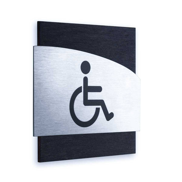 Steel Wheelchairs Wign for Restroom Doors Bathroom Signs Anthracite Gray Bsign