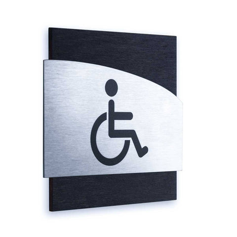 Steel Wheelchairs Wign for Restroom Doors