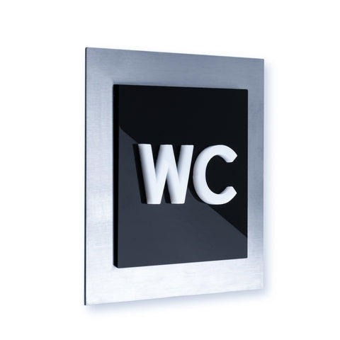 Steel WC Sign for Bathroom