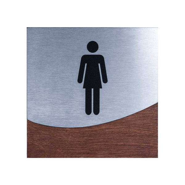 Woman Interior Sign for Restroom Bathroom Signs Indian Rosewood Bsign Bathroom Signs Bsign