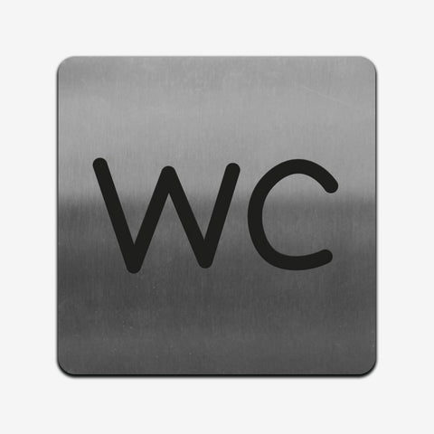 WC - Stainless Steel Sign